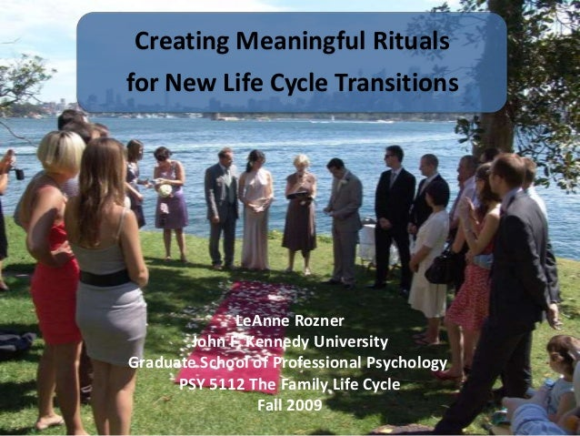 Creating Meaningful Rituals for New Life Cycle Transitions  LeAnne Rozner John F. Kennedy University Graduate School of Pr...