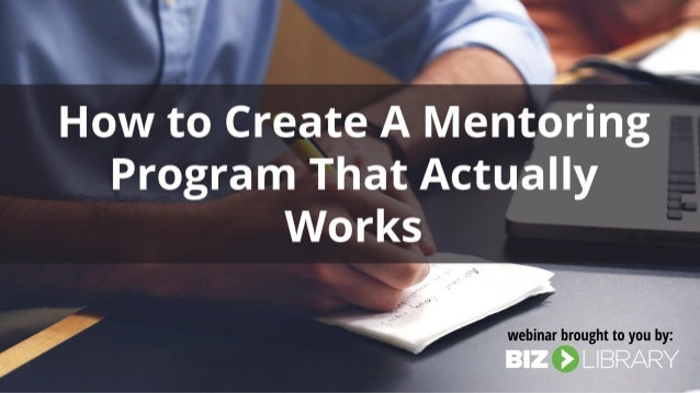 how to start a mentoring program at work