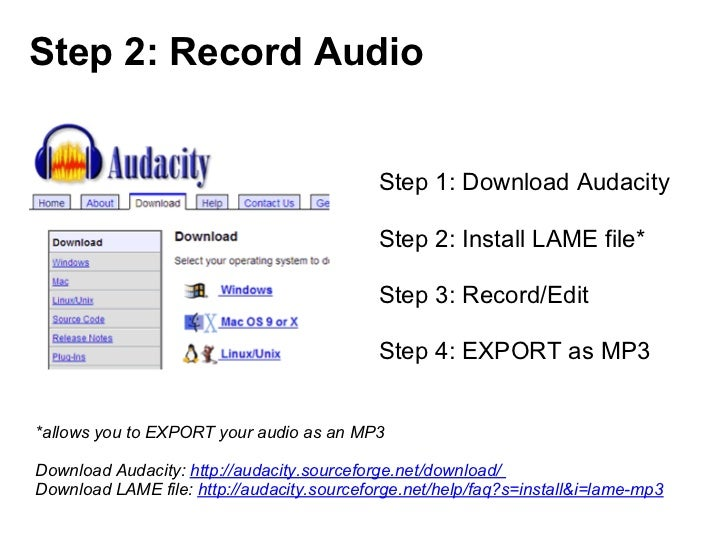 Step 2: Record Audio                                            Step 1: Download Audacity                                 ...