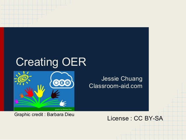 Creating OERJessie ChuangClassroom-aid.comLicense : CC BY-SAGraphic credit : Barbara Dieu