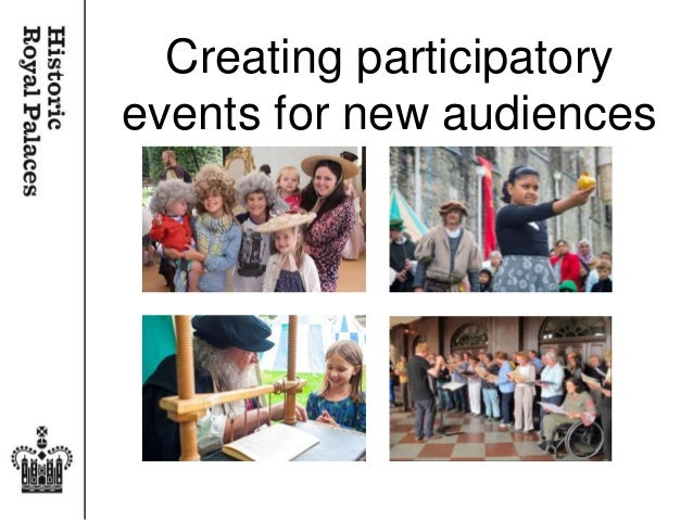 Creating participatory events for new audiences