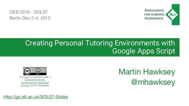 creating personal tutoring environments with google apps. Black Bedroom Furniture Sets. Home Design Ideas
