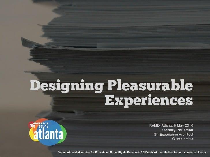 Designing Pleasurable          Experiences                                                                        ReMIX At...