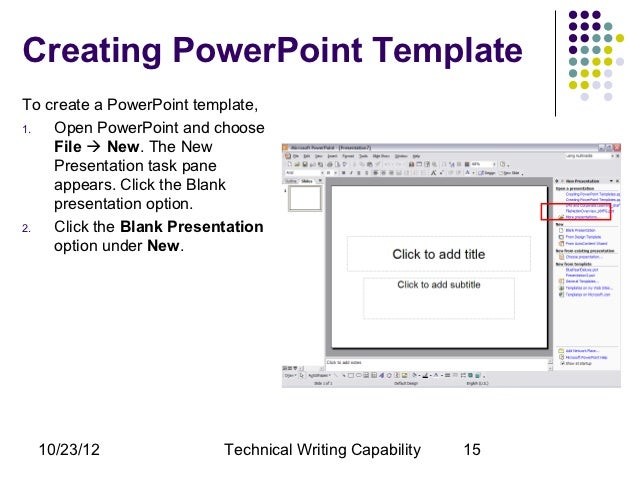 create power point template