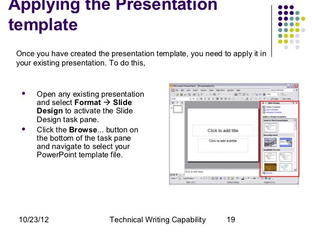 Creating powerpoint templates applying the presentationtemplateonce you have created the presentation template toneelgroepblik Choice Image