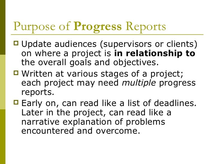 Creating Progress Reports And Periodic Activity Reports