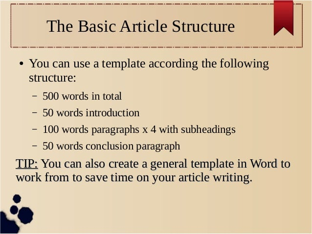 article structure template