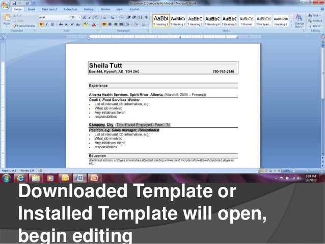 how to make resume in microsoft word 2007