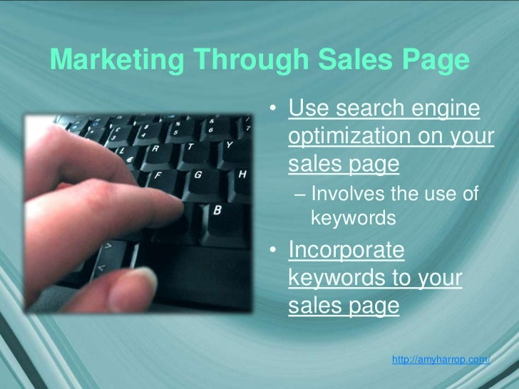 how to create a sales page for ebook