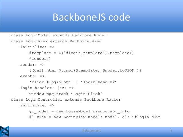 creating single page web app using backbone js