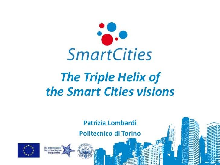 The Triple Helix ofthe Smart Cities visions       Patrizia Lombardi      Politecnico di Torino