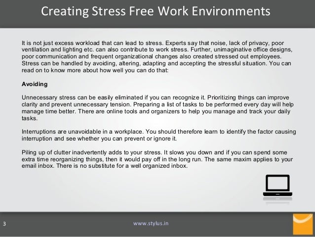 stressful work environments