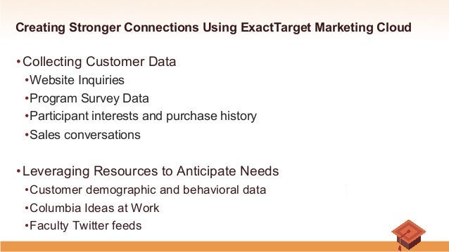 creating stronger connections using exact target marketing