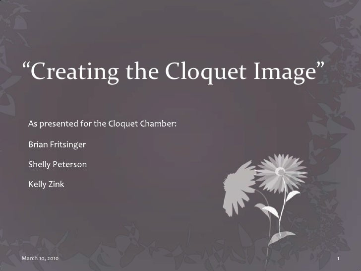 """""""Creating the Cloquet Image""""<br />As presented for the Cloquet Chamber:<br />Brian Fritsinger<br />Shelly Peterson <br />K..."""