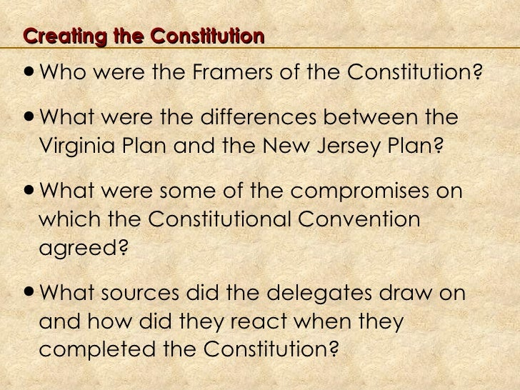 creating of the constitution Return to creating the united states constitution list next section: convention and ratification the continental congress adopted the articles of confederation, the first constitution of the united states, on november 15, 1777, but the states did not ratify them until march 1, 1781 the articles.