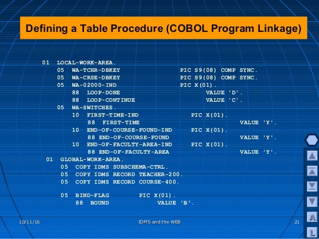 Creating Web Applications With IDMS, COBOL And ADSO
