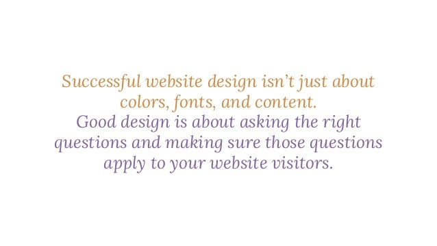 It's about finding solutions to your website visitors' problems. It's about mapping a journey for your visitors and creati...