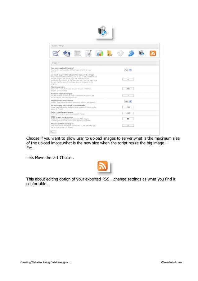 Creating web sites using datalife engine