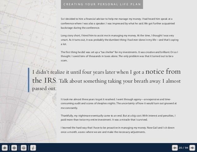 creating your personal life plan pdf