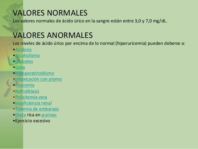 valores acido urico pediatria la gota de agua horada la piedra acido urico e sindrome metabolica