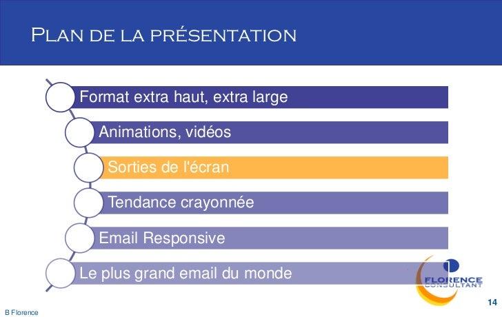 Plan de la présentation             Format extra haut, extra large               Animations, vidéos                 Sortie...