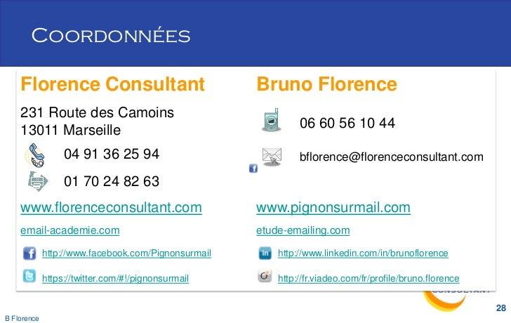 Coordonnées    Florence Consultant                              Bruno Florence    231 Route des Camoins    13011 Marseille...