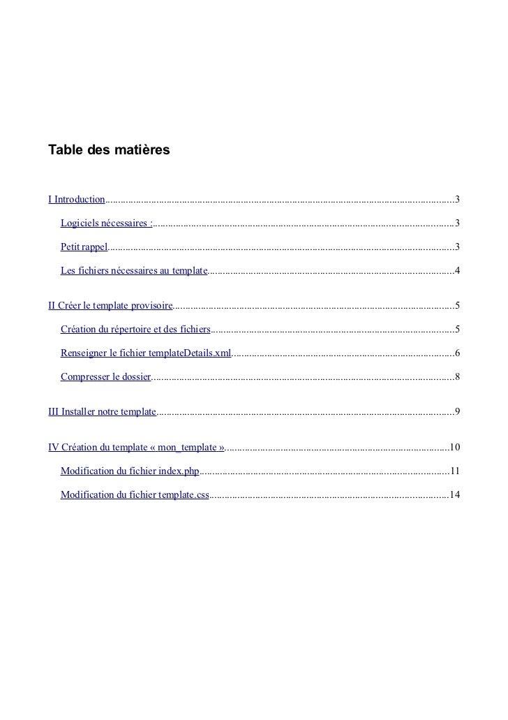Table des matièresI Introduction.............................................................................................