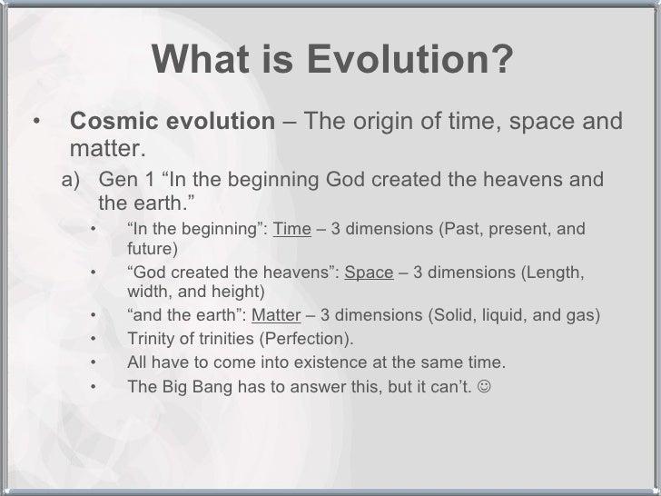 creation vs. evolution thesis statement
