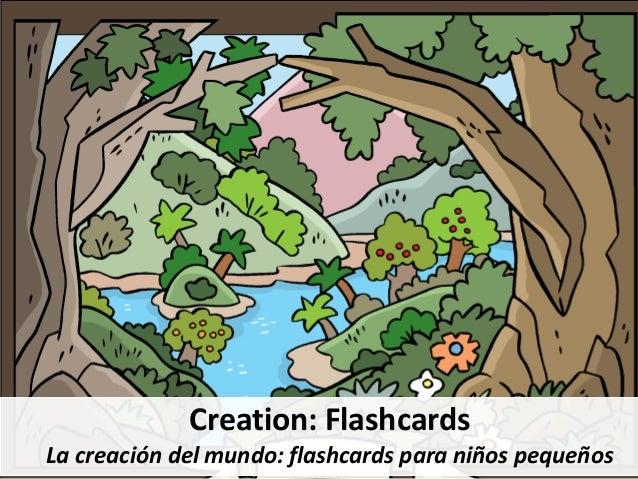 Creation: Flashcards La creación del mundo: flashcards para niños pequeños