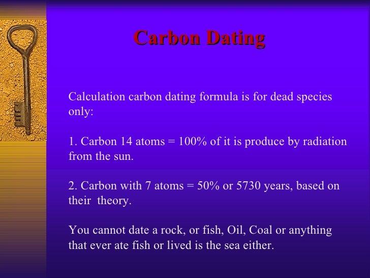 Half Life Carbon dating formule goede eerste dating berichten