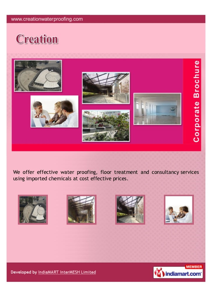 We offer effective water proofing, floor treatment and consultancy servicesusing imported chemicals at cost effective pric...