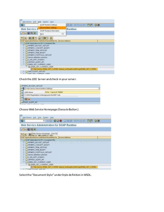 Creation of a web service in sap
