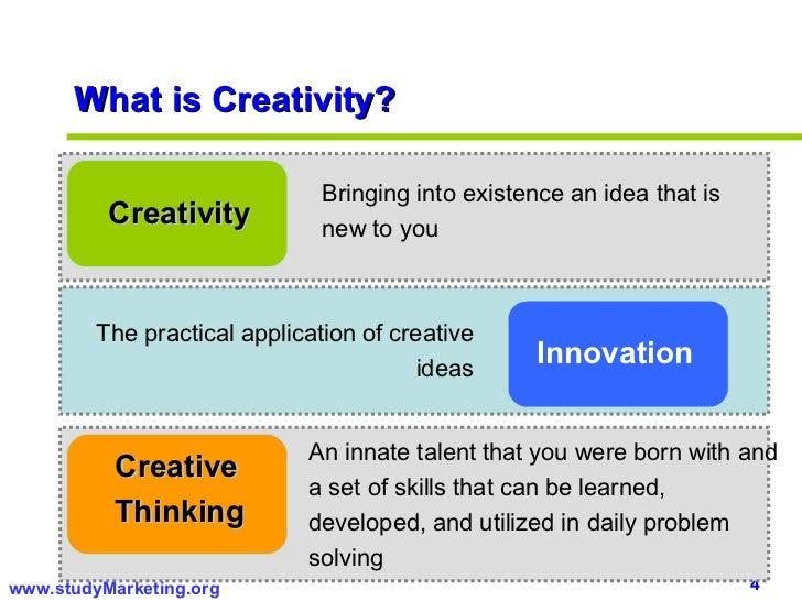 thesis creativity innovation Individual innovation and its influence individual innovation however, only a few studies have examined the group-level conditions affecting individual innovation through creativity and self unpublished master's thesis, m lardalen university, v ster s, sweden google scholar.