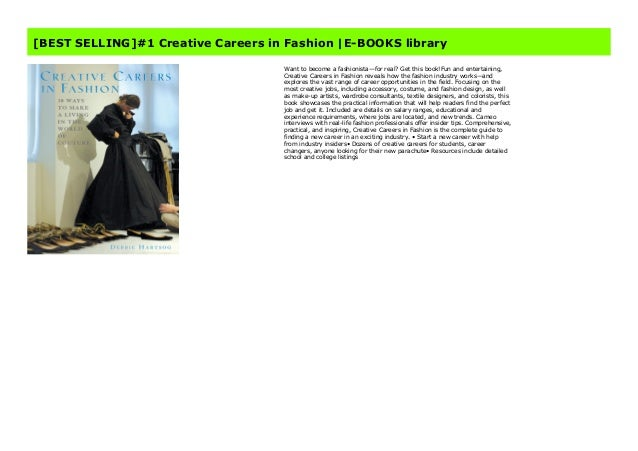 Best Selling 1 Creative Careers In Fashion E Books Library