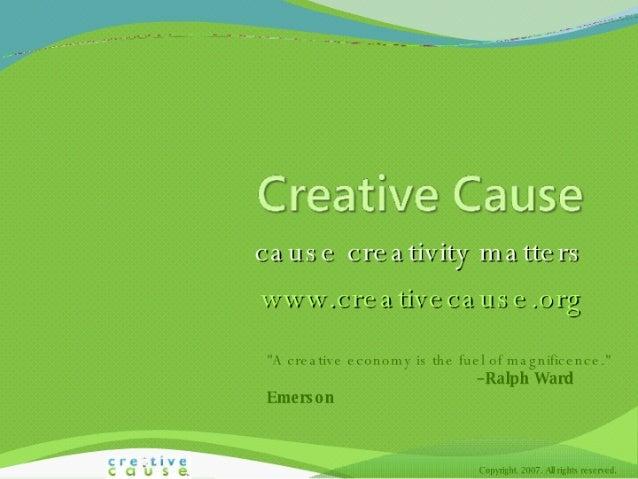 Creative Cause Intro