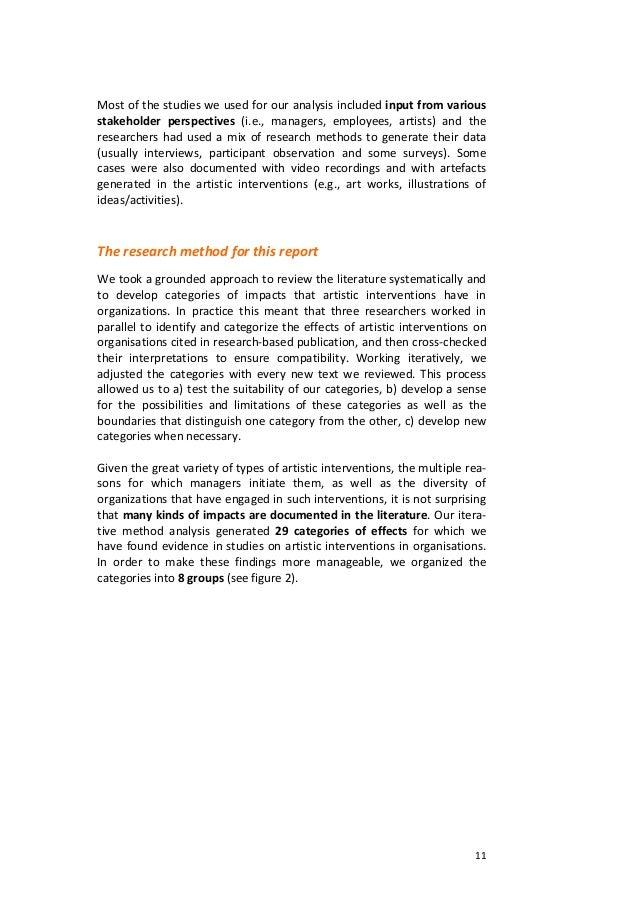 11Mostofthestudiesweusedforouranalysisincludedinputfromvariousstakeholder perspectives (i.e., managers, ...