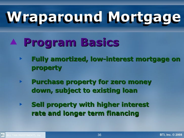 Buy A Property Subject To The Existing Mortgage