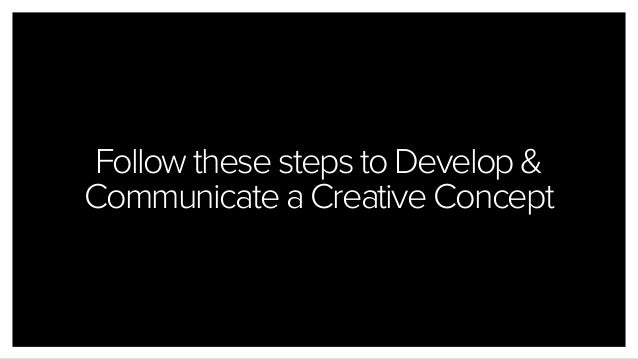 Follow these steps to Develop & Communicate a Creative Concept