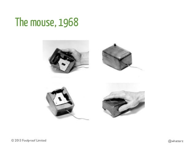 The mouse, 1968  © 2013 Foolproof Limited   @whatterz
