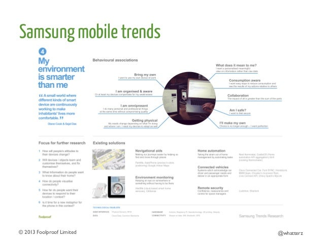 Samsung mobile trends  © 2013 Foolproof Limited   @whatterz