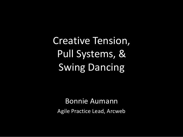 Creative Tension,  Pull Systems, &  Swing Dancing  Bonnie Aumann  Agile Practice Lead, Arcweb