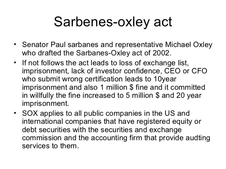 Does Sarbanes-Oxley Hurt Shareholders and Hide Poor Management?