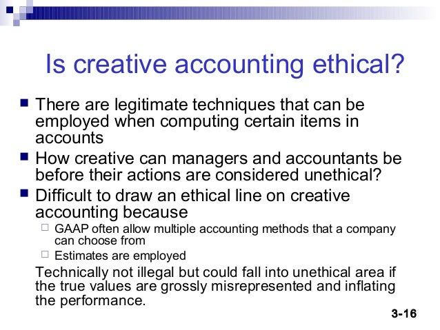 Line Drawing Method Ethics : Creative accounting