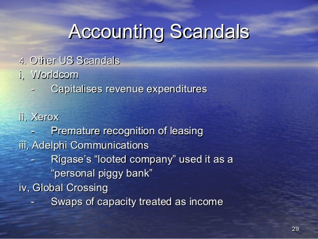 worldcom creative accounting Creative accounting techniques such as the lease accounting-based  court  sdny on 5th november, 2002,3 the sec outlined how worldcom inc overstated .