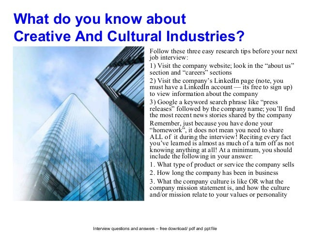 Cultural interview