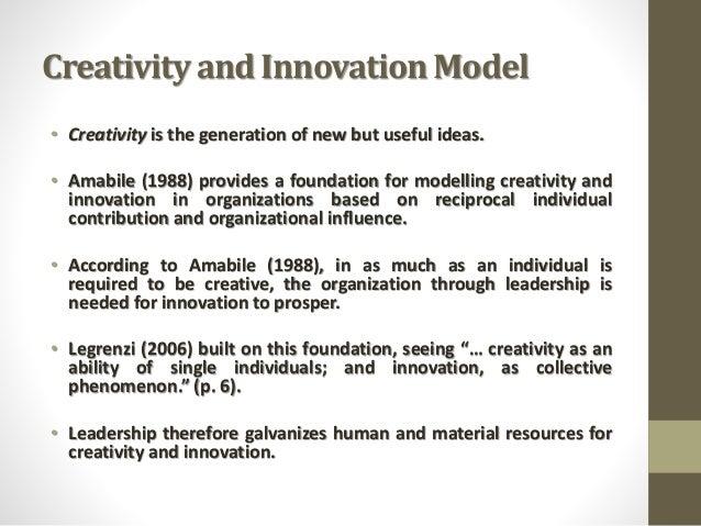 Creativity And Innovation Model