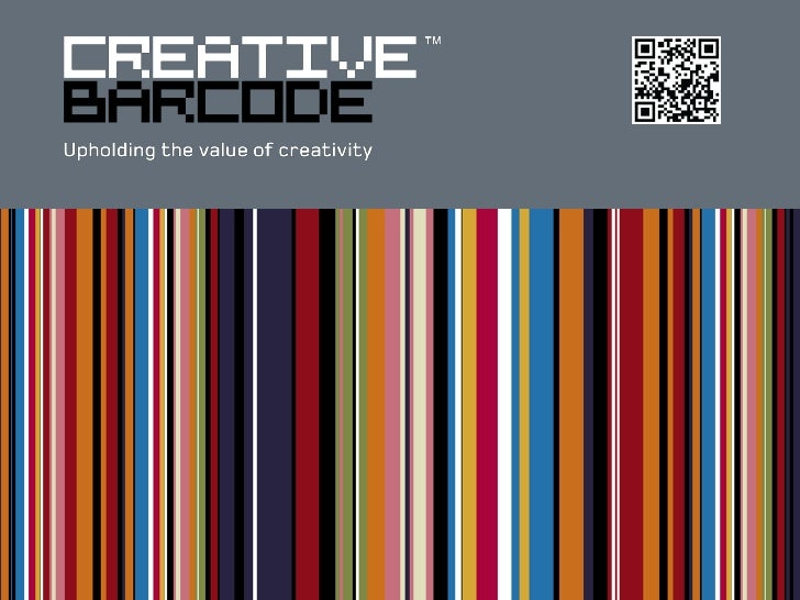 WHAT IS CREATIVE BARCODE?  Creative Barcode™ is a unique creativity protection system  for designers and creators.  It all...