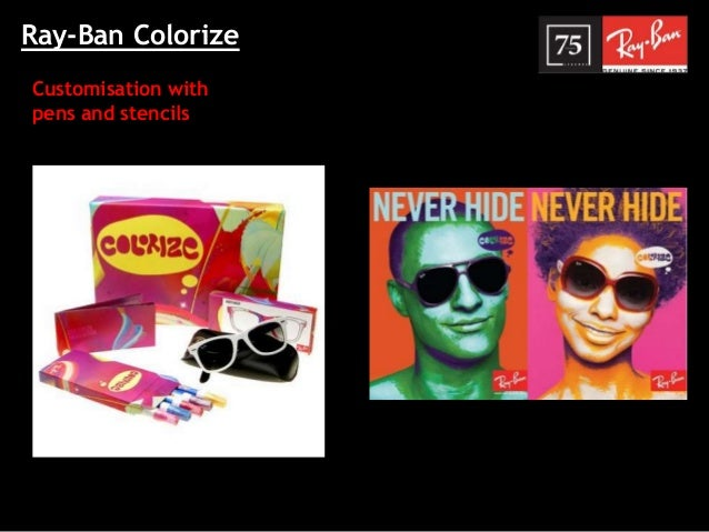 013006e89b8 Ray-Ban Colorize Customisation with pens and stencils ...