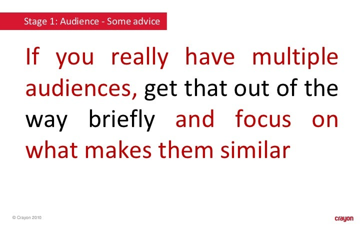 how can you establish a good relationship with your audience during briefing