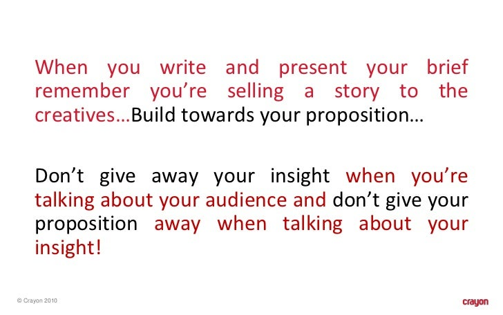 how to write a good creative brief